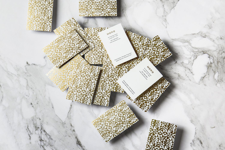02-Mere-Restaurant-Branding-Gold-Foil-Business-Cards-Bibliothèque-Monica-Galetti-London-UK-BPO