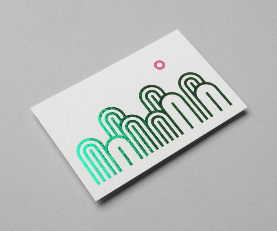 05-Ulju-Mountain-Film-Festival-Green-Foiled-Business-Card-by-Studio-fnt-on-BPO